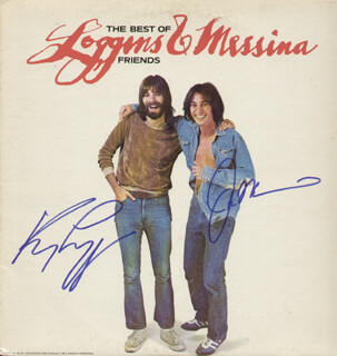 Autographs: KENNY LOGGINS - RECORD ALBUM COVER SIGNED CO-SIGNED BY: JIM MESSINA