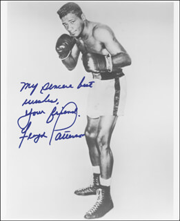 FLOYD PATTERSON - AUTOGRAPHED SIGNED PHOTOGRAPH
