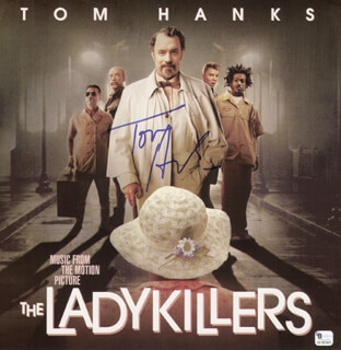 TOM HANKS - RECORD ALBUM COVER SIGNED  - HFSID 287755