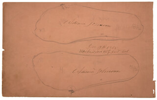 Autographs: PRESIDENT ANDREW JOHNSON - HAND/FOOT PRINT OR SKETCH SIGNED