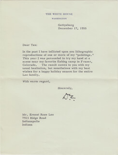 PRESIDENT DWIGHT D. EISENHOWER - TYPED LETTER SIGNED 12/17/1955