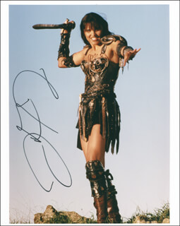 LUCY LAWLESS - AUTOGRAPHED SIGNED PHOTOGRAPH