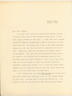 ANNE MORROW LINDBERGH - TYPED LETTER SIGNED 12/08/1959
