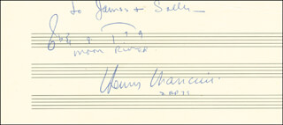 HENRY MANCINI - AUTOGRAPH MUSICAL QUOTATION SIGNED
