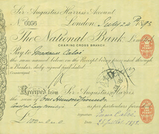 EMMA CALVÉ - PRINTED DOCUMENT SIGNED IN INK 07/24/1893