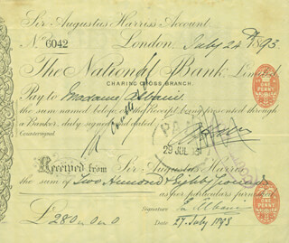 Autographs: DAME EMMA ALBANI GYE - PRINTED DOCUMENT SIGNED IN INK 07/27/1893