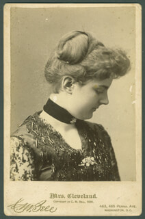 FIRST LADY FRANCES F. CLEVELAND - PHOTOGRAPH UNSIGNED