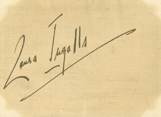 LAURA INGALLS - AUTOGRAPH NOTE SIGNED 11/16/1935