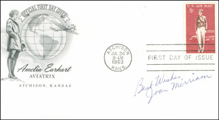 JOAN MERRIAM SMITH - FIRST DAY COVER WITH AUTOGRAPH SENTIMENT SIGNED