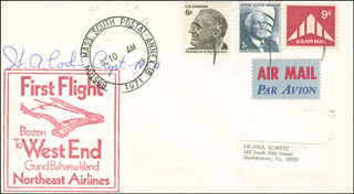 FIRST FLIGHT FROM BOSTON TO WEST END, GRAND BAHAMA - SPECIAL COVER SIGNED CO-SIGNED BY: CAPTAIN H. A. COOK