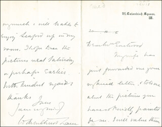 SIR WILLIAM ARBUTHNOT-LANE - AUTOGRAPH LETTER SIGNED 08/06/1920