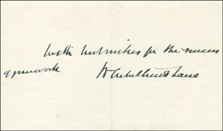 SIR WILLIAM ARBUTHNOT-LANE - AUTOGRAPH SENTIMENT SIGNED