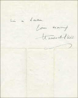 HAVELOCK HENRY ELLIS - AUTOGRAPH LETTER SIGNED 01/02/1929