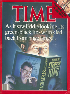 STEPHEN KING - MAGAZINE SIGNED 02/23/1987