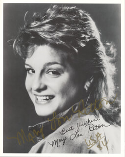 MARY LOU RETTON - AUTOGRAPHED SIGNED PHOTOGRAPH