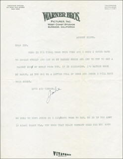 JACK NORWORTH - TYPED LETTER SIGNED 08/06
