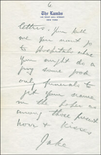 JACK NORWORTH - AUTOGRAPH LETTER SIGNED 03/07/1943