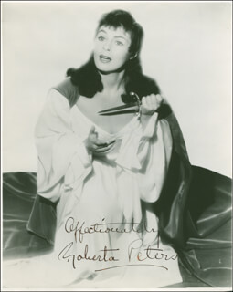 ROBERTA PETERS - AUTOGRAPHED SIGNED PHOTOGRAPH
