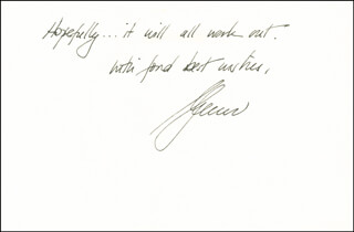 GLENN CLOSE - AUTOGRAPH LETTER SIGNED 01/08/1990