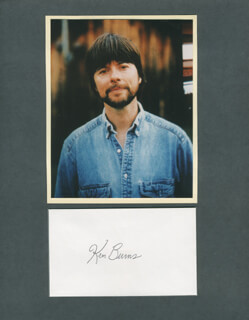 Autographs: KEN BURNS - SIGNATURE(S)