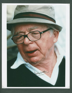 BILLY WILDER - AUTOGRAPHED SIGNED PHOTOGRAPH