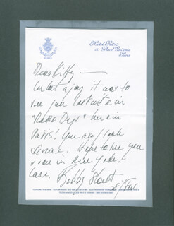 BOBBY SHORT - AUTOGRAPH LETTER SIGNED