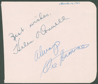 VIC DAMONE - AUTOGRAPH SENTIMENT SIGNED CIRCA 1951 CO-SIGNED BY: HELEN O'CONNELL