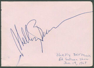 SHELLEY BERMAN - AUTOGRAPH CIRCA 1969