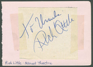 RICH LITTLE - INSCRIBED SIGNATURE