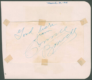 THE BOSWELL SISTERS (CONNEE BOSWELL) - AUTOGRAPH SENTIMENT SIGNED CIRCA 1951