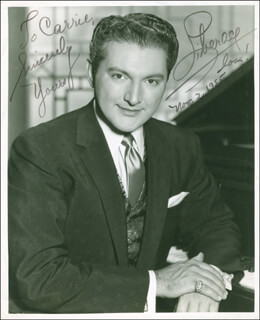 LIBERACE - AUTOGRAPHED INSCRIBED PHOTOGRAPH 11/02/1955