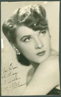 BETTY KILBOURNE - AUTOGRAPHED INSCRIBED PHOTOGRAPH
