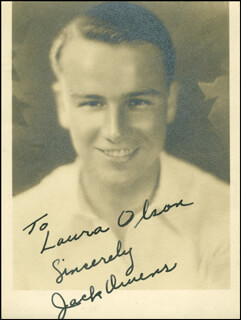 JACK OWENS - AUTOGRAPHED INSCRIBED PHOTOGRAPH