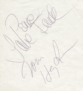 JANE FONDA - AUTOGRAPH CO-SIGNED BY: THOMAS E. HAYDEN