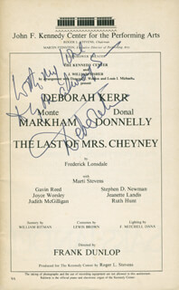DEBORAH KERR - PROGRAM SIGNED