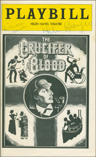 CRUCIFER OF BLOOD BROADWAY CAST - SHOW BILL SIGNED CO-SIGNED BY: HELEN HAYES, LILLIAN GISH