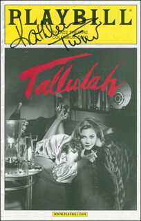 KATHLEEN TURNER - SHOW BILL SIGNED