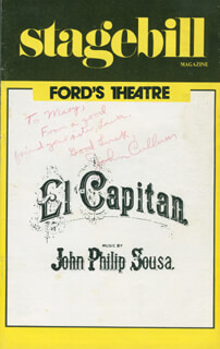 JOHN CULLUM - INSCRIBED SHOW BILL SIGNED
