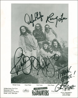 KENTUCKY HEADHUNTERS - AUTOGRAPHED SIGNED PHOTOGRAPH CO-SIGNED BY: THE KENTUCKY HEADHUNTERS (GREG MARTIN), KENTUCKY HEADHUNTERS (DOUG PHELPS), KENTUCKY HEADHUNTERS (RICKY PHELPS), KENTUCKY HEADHUNTERS (RICHARD YOUNG)