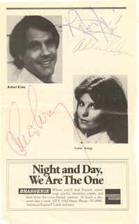 THEY'RE PLAYING OUR SONG BROADWAY CAST - PROGRAM PAGE SIGNED CO-SIGNED BY: ROBERT KLEIN, LUCIE ARNAZ, ALLEN KELMAN