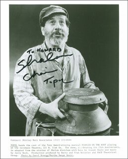 CHAIM TOPOL - AUTOGRAPHED INSCRIBED PHOTOGRAPH
