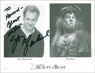 STEVE BLANCHARD - AUTOGRAPHED INSCRIBED PHOTOGRAPH