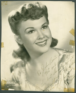 BETTY JANE WATSON - AUTOGRAPHED INSCRIBED PHOTOGRAPH