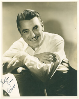GEORGE BRENT - AUTOGRAPHED INSCRIBED PHOTOGRAPH