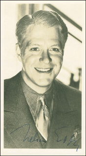 NELSON EDDY - AUTOGRAPHED SIGNED PHOTOGRAPH