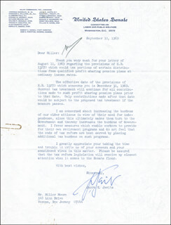 JACOB K. JAVITS - TYPED LETTER SIGNED 09/10/1969