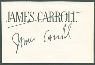 Autographs: JAMES CARROLL - CALLING CARD SIGNED