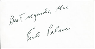 Autographs: FRED PELSER - AUTOGRAPH SENTIMENT SIGNED