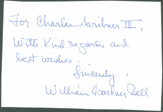 Autographs: WILLIAM GARDNER BELL - AUTOGRAPH NOTE SIGNED