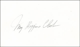 MARY HIGGINS CLARK - AUTOGRAPH